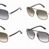Gucci présente les nouvelles lunettes de soleil en cuir.