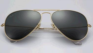 lunettes aviator rayban en or massif